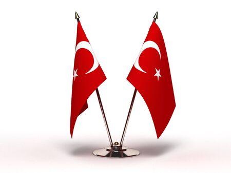 Miniature Flag of Turkey (Isolated) photo