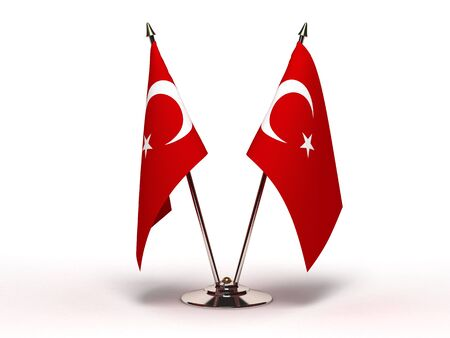 Miniature Flag of Turkey (Isolated)