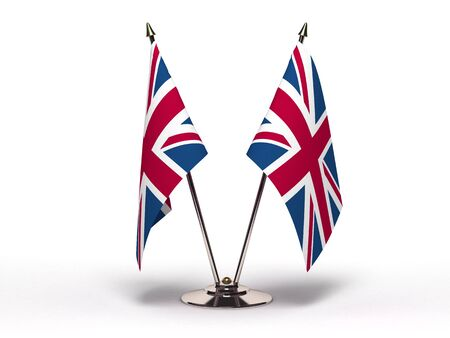 Miniature Flag of United Kingdom (Isolated) photo