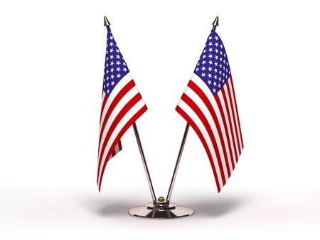 Miniature Flag of USA (Isolated)