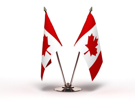 Miniature Flag of Canada Stock Photo
