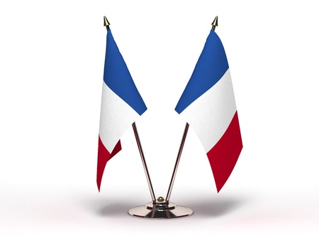 Miniature Flag of France Stock Photo