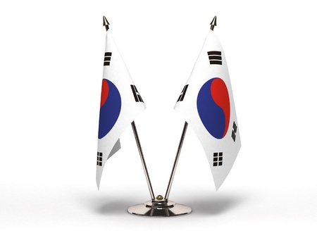 Miniature Flag of  South Korea
