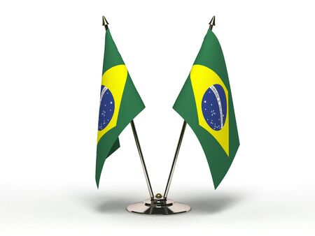 Miniature Flag of Brazil(Isolated with clipping path)