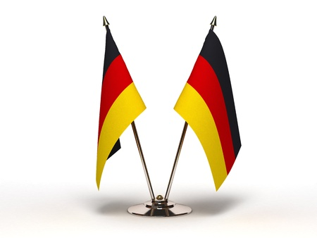 Miniature Flag of Germany (Isolated with clipping path) Stock Photo