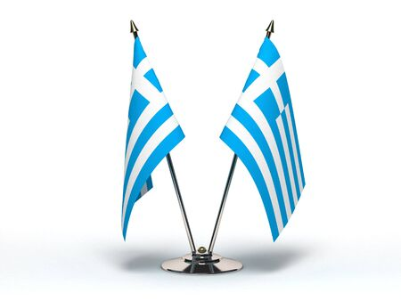 Miniature Flag of Greece(Isolated with clipping path)
