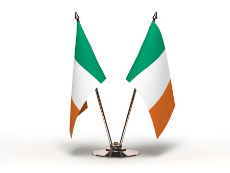 Miniature Flag of Ireland(Isolated with clipping path)
