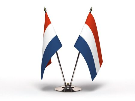 Miniature Flag of Netherland (Isolated with clipping path)