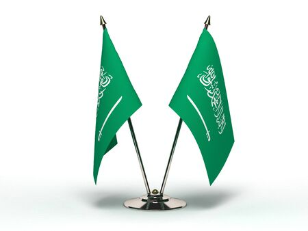Miniature Flag of Saudi Arabia(Isolated with clipping path) Stock Photo
