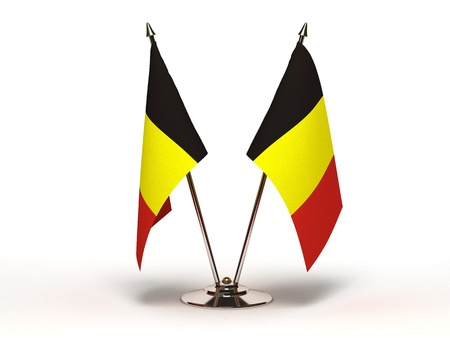 Miniature Flag of Belgium (Isolated with clipping path) Stock Photo
