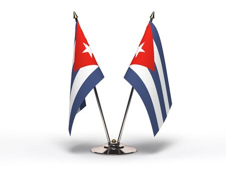 Miniature Flag of Cuba(Isolated with clipping path) Stock Photo