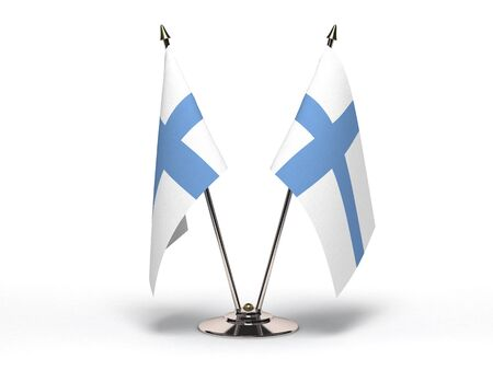 Miniature Flag of Finland(Isolated with clipping path)