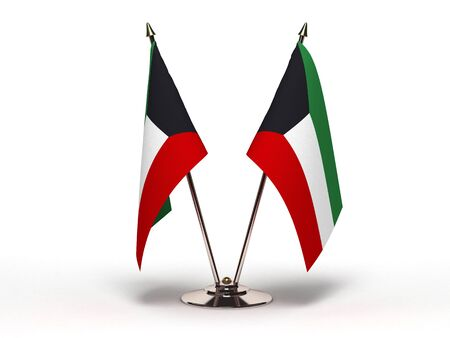 Miniature Flag of Kuwait (Isolated with clipping path)