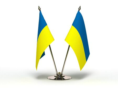 Miniature Flag of Ukraine(Isolated with clipping path)