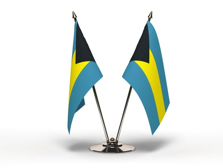 Miniature Flag of Bahamas Isolated with clipping path  Stock Photo