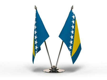 Miniature Flag of Bosnia and Herzegovina Isolated with clipping path Stock Photo - 12659222
