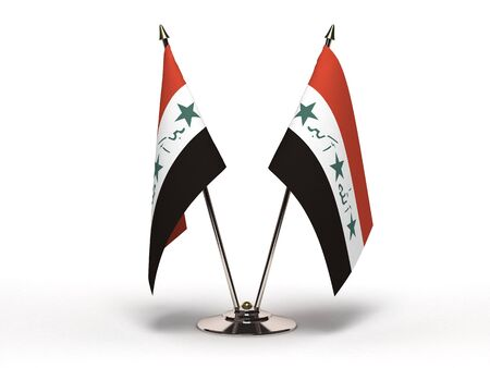 Miniature Flag of Iraq Isolated with clipping path