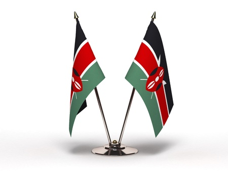Miniature Flag of Kenya Isolated with clipping path  Stock Photo