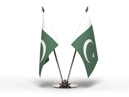 Miniature Flag of Pakistan Isolated with clipping path  Stock Photo
