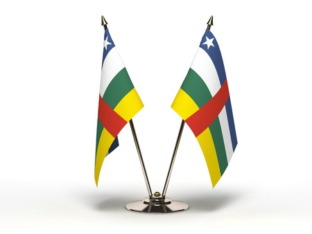 Miniature Flag of Central Africa Stock Photo