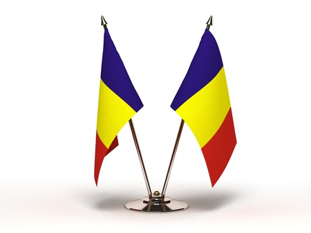 Miniature Flag of Romania Stock Photo