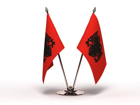 Miniature Flag of Albania Stock Photo - 13373822