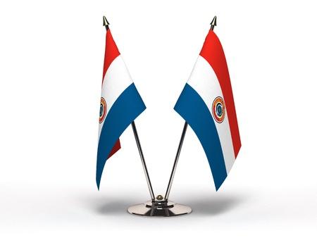 paraguay: Miniature Flag of Paraguay