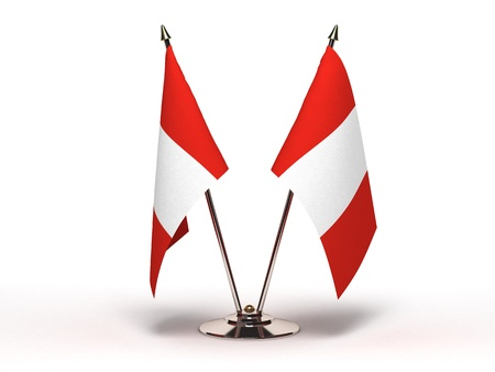 Miniature Flag of Peru Stock Photo