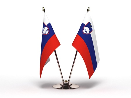Miniature Flag of Slovenia  Stock Photo