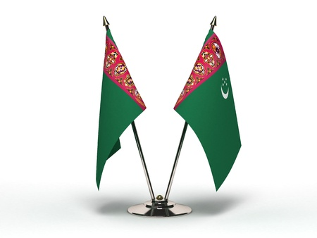 Miniature Flag of Turkmenistan