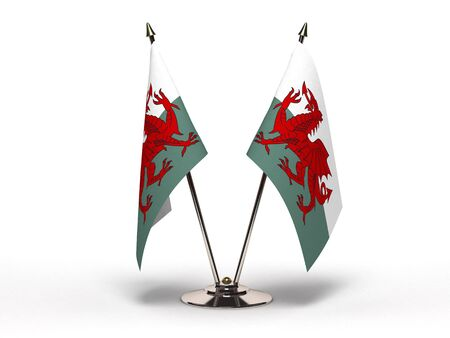 Miniature Flag of Wales Stock Photo
