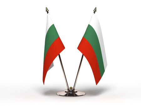 Miniature Flag of Bulgaria (Isolated with clipping path)