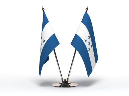 Miniature Flag of Honduras (Isolated with clipping path)