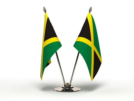Miniature Flag of Jamaica (Isolated with clipping path)