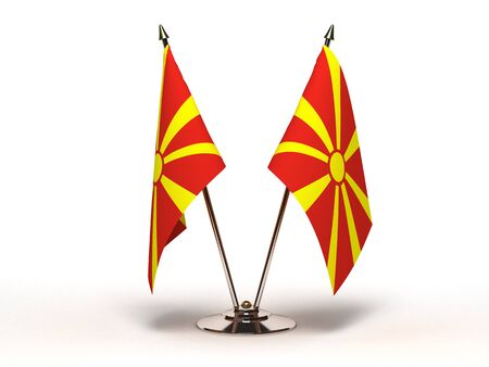 Miniature Flag of Macedonia (Isolated with clipping path) Stock Photo - 13554674