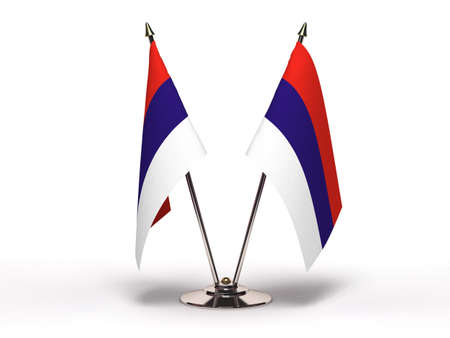 Miniature Flag of Serbia  (Isolated with clipping path) Stock Photo - 13554669