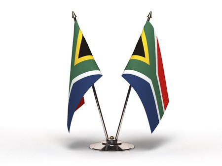 Miniature Flag of South Africa (isoliert mit Clipping-Pfad)
