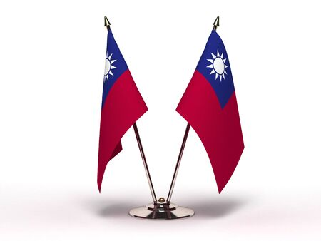 Miniature Flag of Taiwan (Isolated with clipping path) Stock Photo