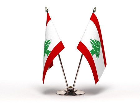 Miniature Flag of Lebanon  Stock Photo