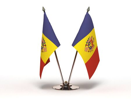 Miniature Flag of Moldova  Stock Photo