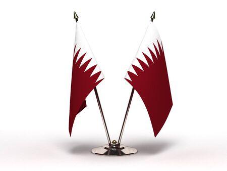 Miniature Flag of Qatar Stock Photo - 15498638