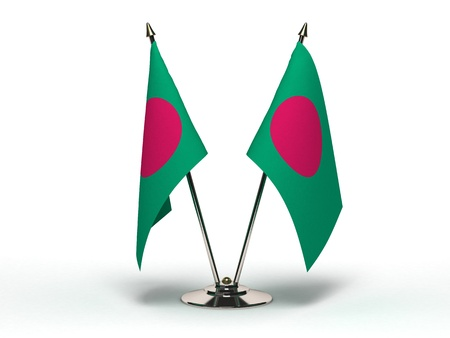 Miniature Flag of Bangladesh Isolated photo