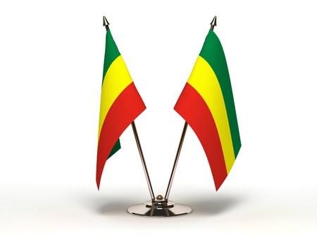 ethiopia flag: Miniature Flag of Ethiopia Stock Photo
