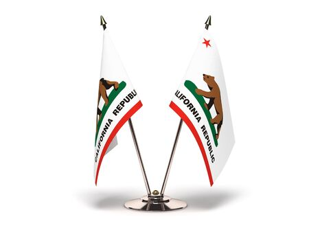 Miniature Flag of California  Isolated  Stock Photo - 16076129