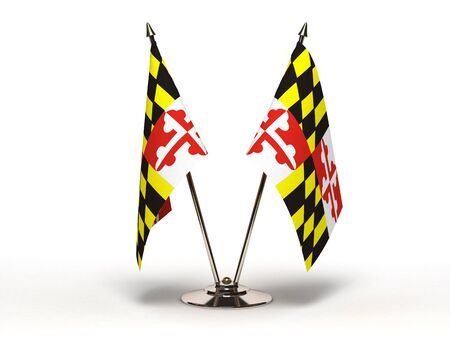 Miniature Flag of Maryland  Isolated  Stock Photo - 16076417
