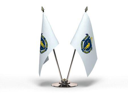 Miniature Flag of Massachusetts Isolated Stock Photo - 16076538