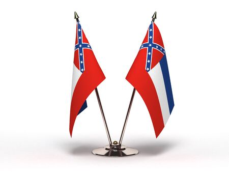 Miniature Flag of Mississippi Isolated  Stock Photo - 16076482