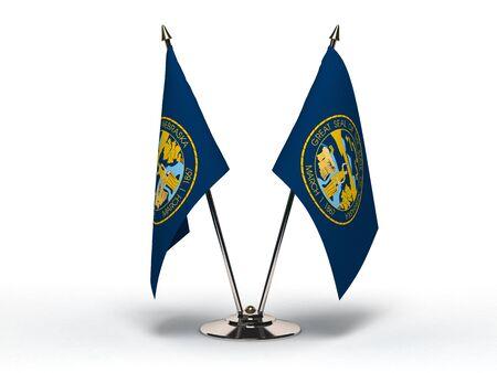 Miniature Flag of Nebraska  Isolated   Stock Photo - 16076329