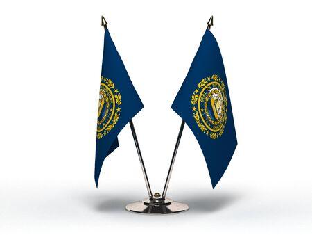 Miniature Flag of New Hampshire Isolated Stock Photo - 16076306