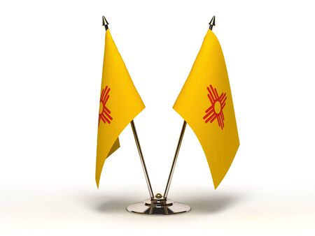 Miniature Flag of New Mexico Isolated Stock Photo - 16076555